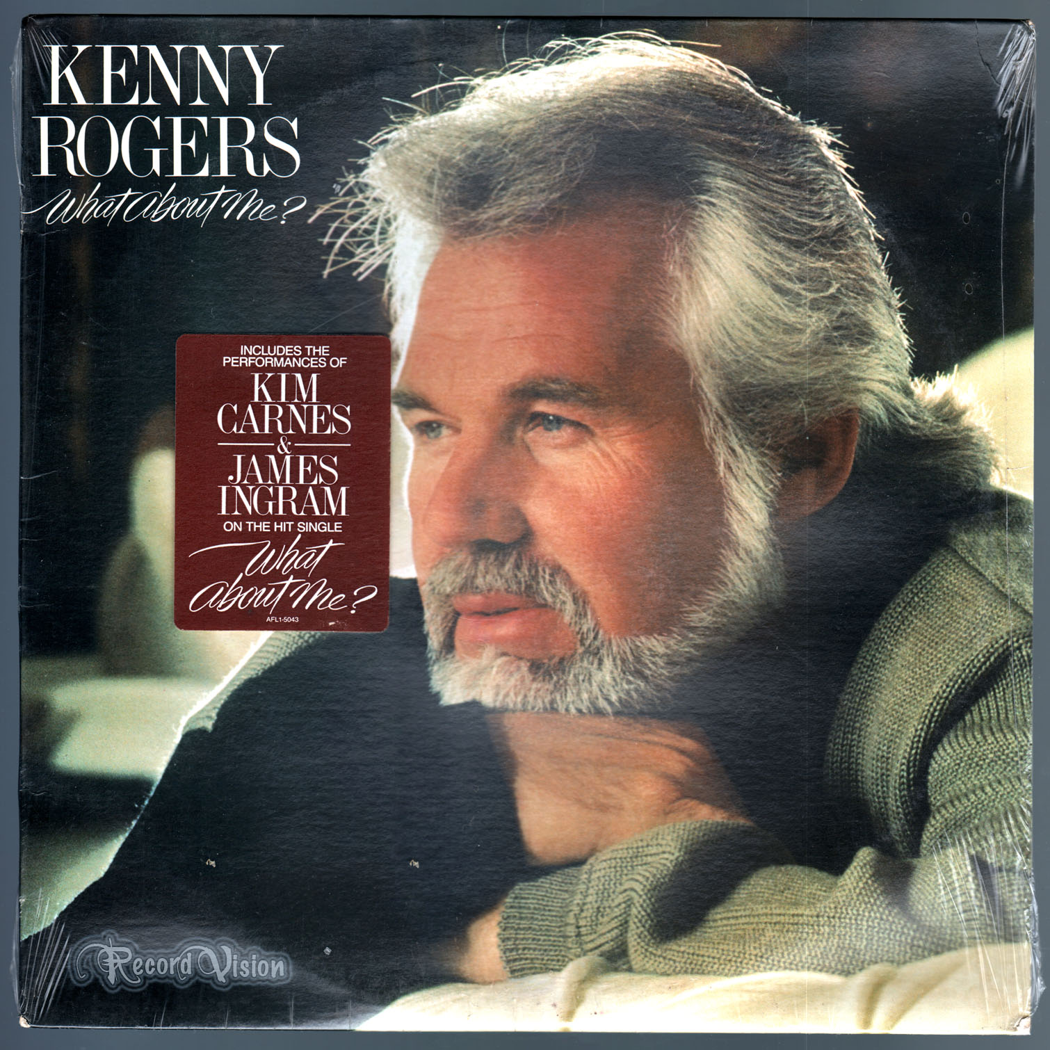 What about me? by Kenny Rogers, LP with recordvision - Ref:3070071114